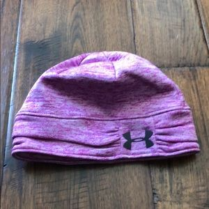 Under Armour pink winter hat. OSFA Never Worn!